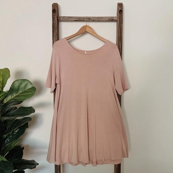 Wishlist Blush Pink Swing Dress
